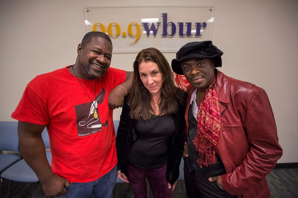 Marlon Carey, Alison Keslow and Regie Gibson of Shakespeare to Hip Hop. (Photo by Jesse Costa)