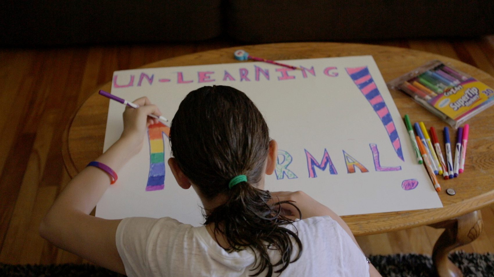 "Michelle Smith spreads her ""Unlearning Normal"" message in the film. (Courtesy Sarah Ginsberg/filmmakers)"