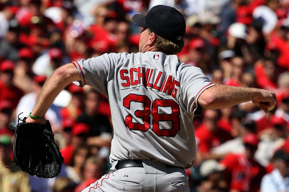 Curt Schilling won three World Series rings -- one with the Arizona Diamondbacks, two with the Boston Red Sox -- during his time in MLB.  (Lisa Blumenfeld/Getty Images)