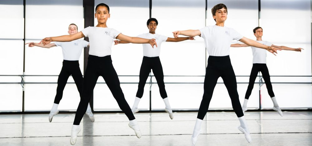 Ballet companies try to be equally made up of men and women, but not enough boys are signing up for ballet classes when they're young. (Courtesy Ballet Austin)