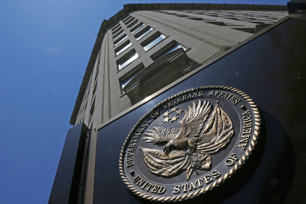 The seal affixed to the front of the Department of Veterans Affairs building in Washington in June 2013. (Charles Dharapak/AP)