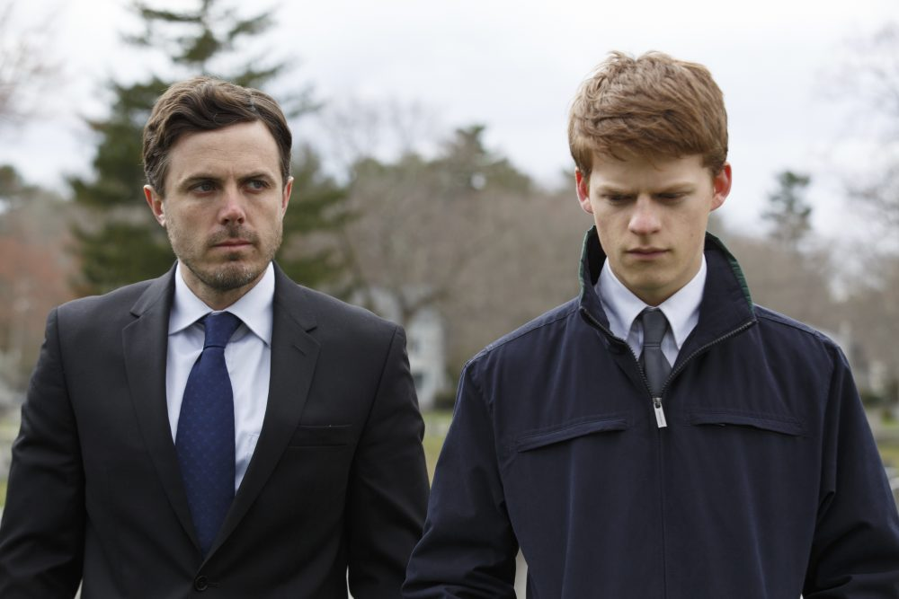 """Lucas Hedges, right, and Casey Affleck in a scene from """"Manchester By The Sea."""" (Claire Folger/Roadside Attractions and Amazon Studios via AP)"""