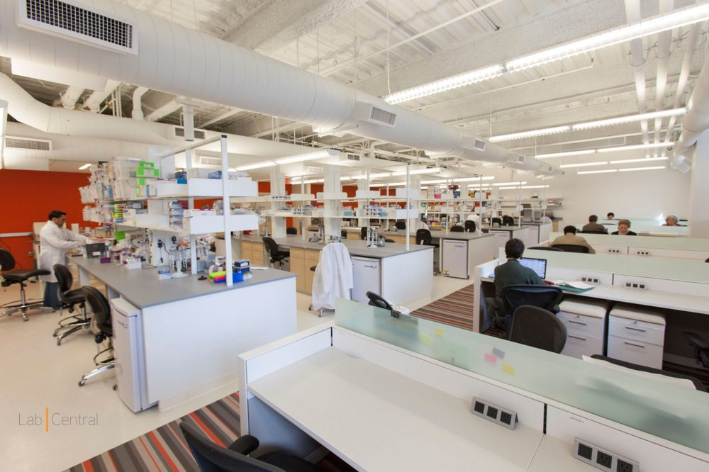 LabCentral, in Kendall Square, is a shared lab space for biotech startups. (PRNewsFoto/LabCentral)