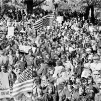 Is it possible, writes Lindsey Danis, that the recent uptick in hate crimes in the state can help Massachusetts finally get over its history of hate? Pictured: An estimated 7,000 marchers gather to protest forced school busing in South Boston, Ma., Monday, Oct. 27, 1975. The rally coincides with a boycott of schools by most white students. (Peter Bregg/AP)