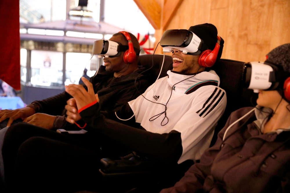 NBA player Brandon Ingram wears the Samsung Gear VR. Virtual reality technology has already come to the NBA. (Rachel Murray/Getty Images for Samsung)