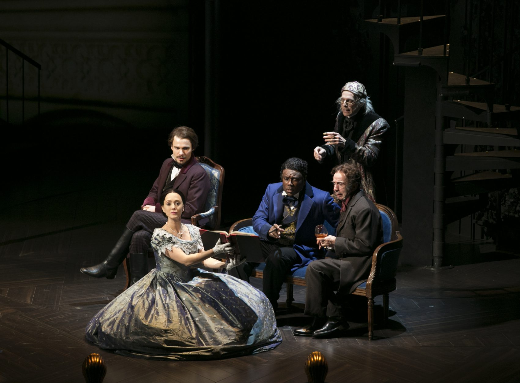 """The cast of A.R.T.'s """"Fingersmith."""" (Courtesy Evgenia Eliseeva/American Repertory Theater)"""