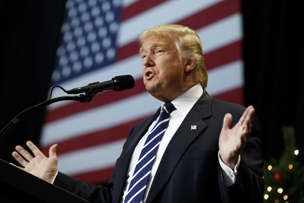 In a post-truth world, feelings are fact, writes Tim Snyder. Pictured: President-elect Donald Trump speaks during a rally at the Wisconsin State Fair Exposition Center, Tuesday, Dec. 13, 2016, in West Allis, Wis. (Evan Vucci/AP)
