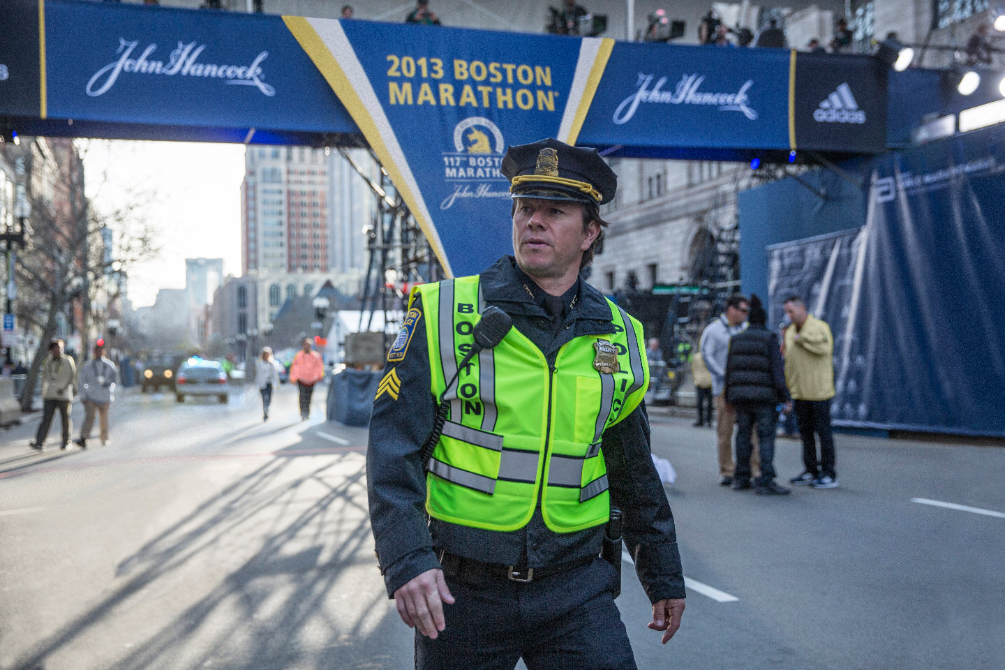 Mark Wahlberg in the film, 'Patriot's Day.' (Courtesy CBS Films and Lionsgate)