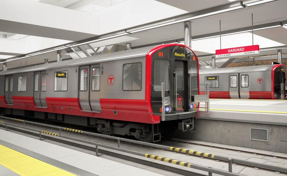 An artist's rendering of the new Red Line cars. (MBTA)