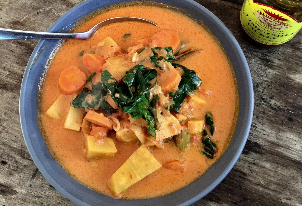 Kathy's winter vegetable curry. (Kathy Gunst for Here & Now)
