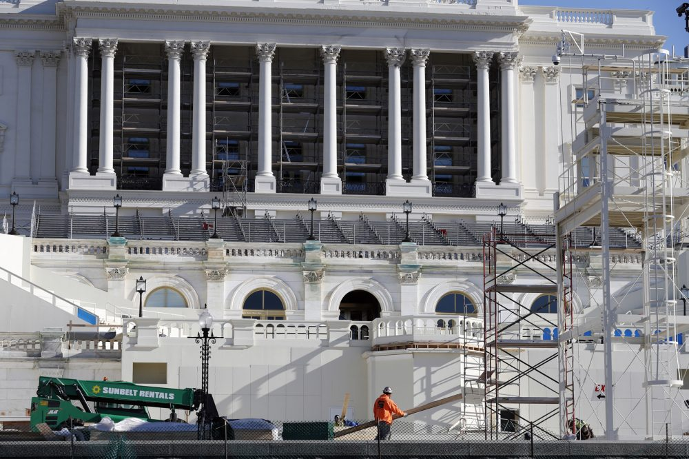 The West Front of the Capitol is seen as work continues on the stand for the inauguration of President-elect Donald Trump in Washington, Wednesday, Dec. 28, 2016. (Alex Brandon/AP)