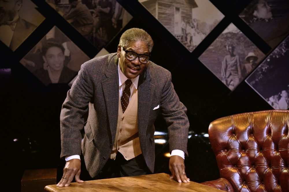 """Johnny Lee Davenport as Thurgood Marshall in the New Rep's production of """"Thurgood."""" (Courtesy Andrew Brilliant/Brilliant Pictures)"""