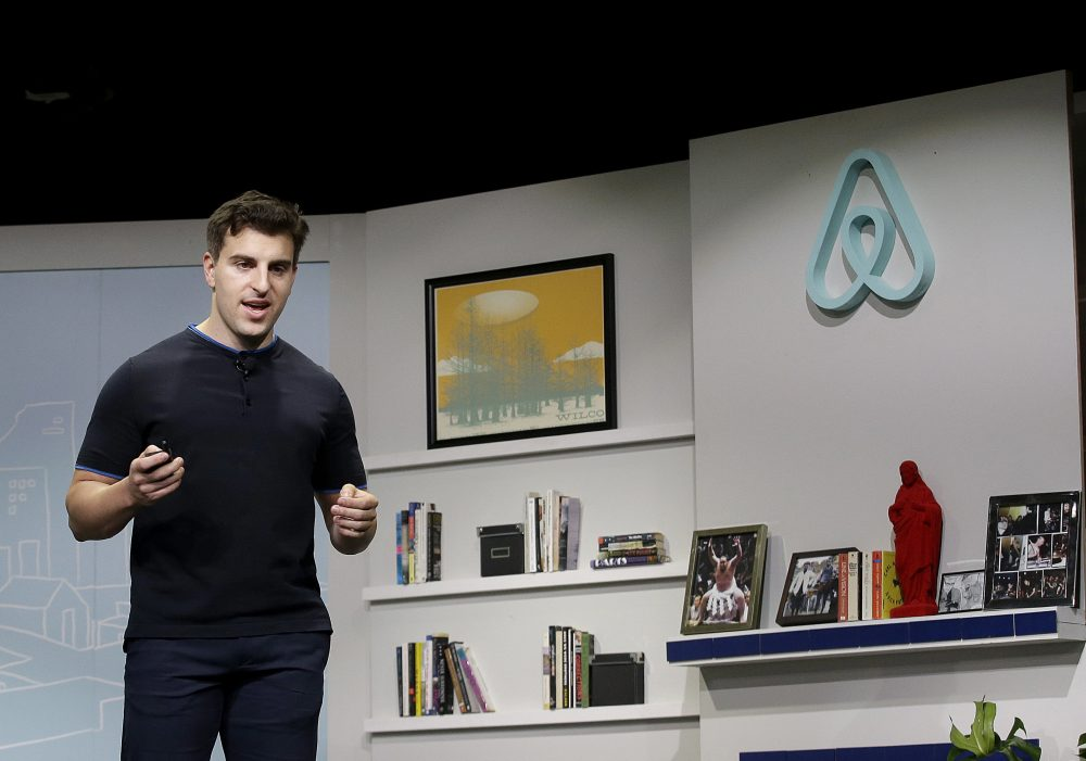Airbnb co-founder and CEO Brian Chesky speaks during an event in San Francisco in April 2016. (Jeff Chiu/AP file photo)