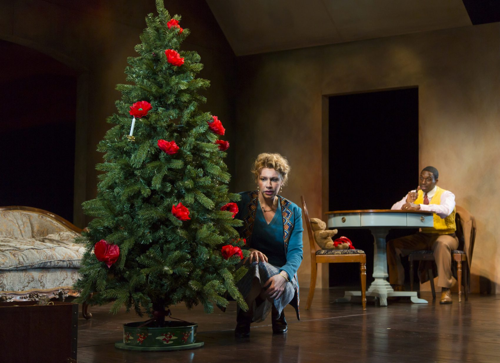 """Andrea Syglowski and Sekou Laidlow in The Huntington's production of """"A Doll's House."""" (Courtesy T. Charles Erikson/Huntington Theatre Company)"""