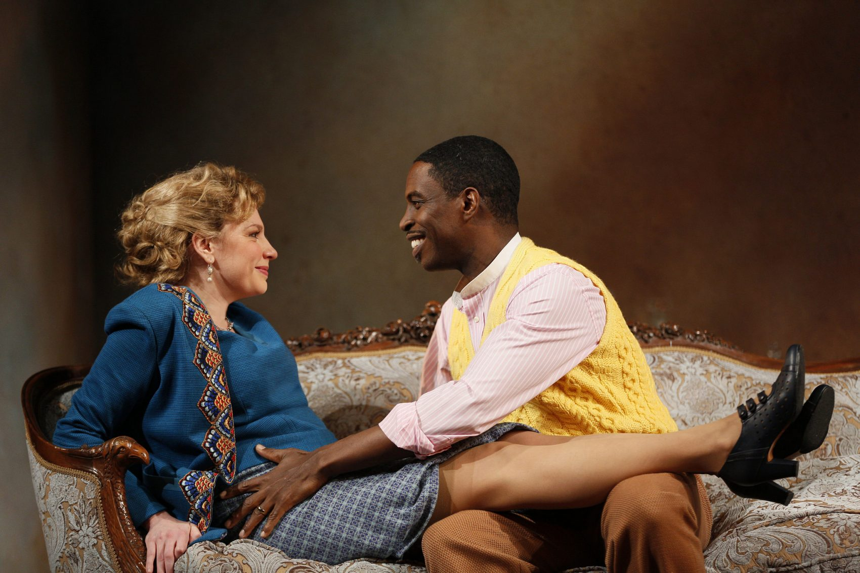 the huntington s production proves there s reason to re a the helmers played by andrea syglowski and sekou laidlow in the huntington s a