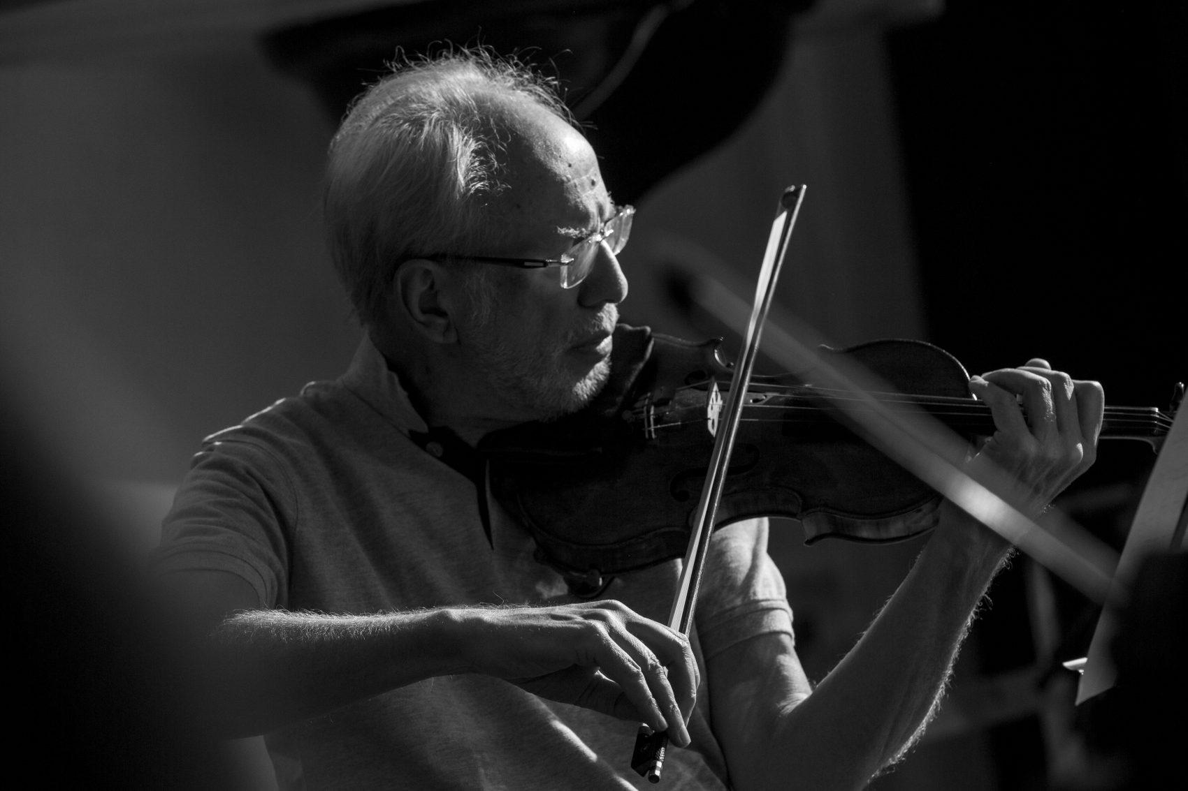 Violinist Gidon Kremer. (Courtesy Paolo Pellegrin/Magnum Photos)