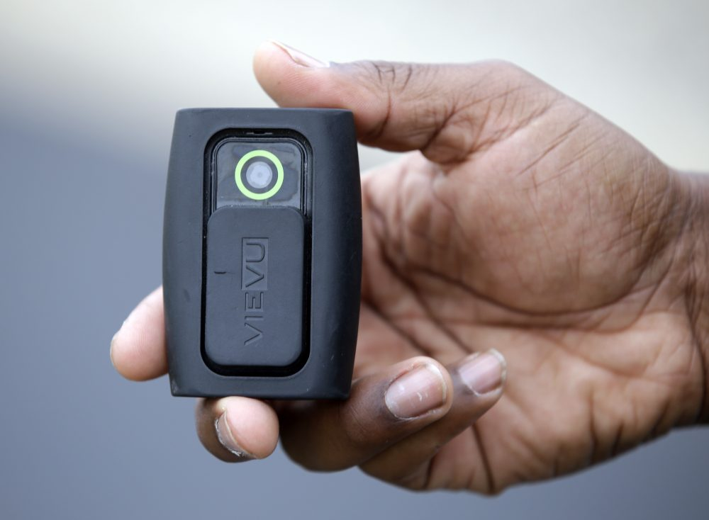Boston Police Commissioner Bill Evans says he hopes to extend the city's body camera pilot program in to better assess how it's working. The six-month pilot program is more than half-way through. (Darron Cummings/AP)