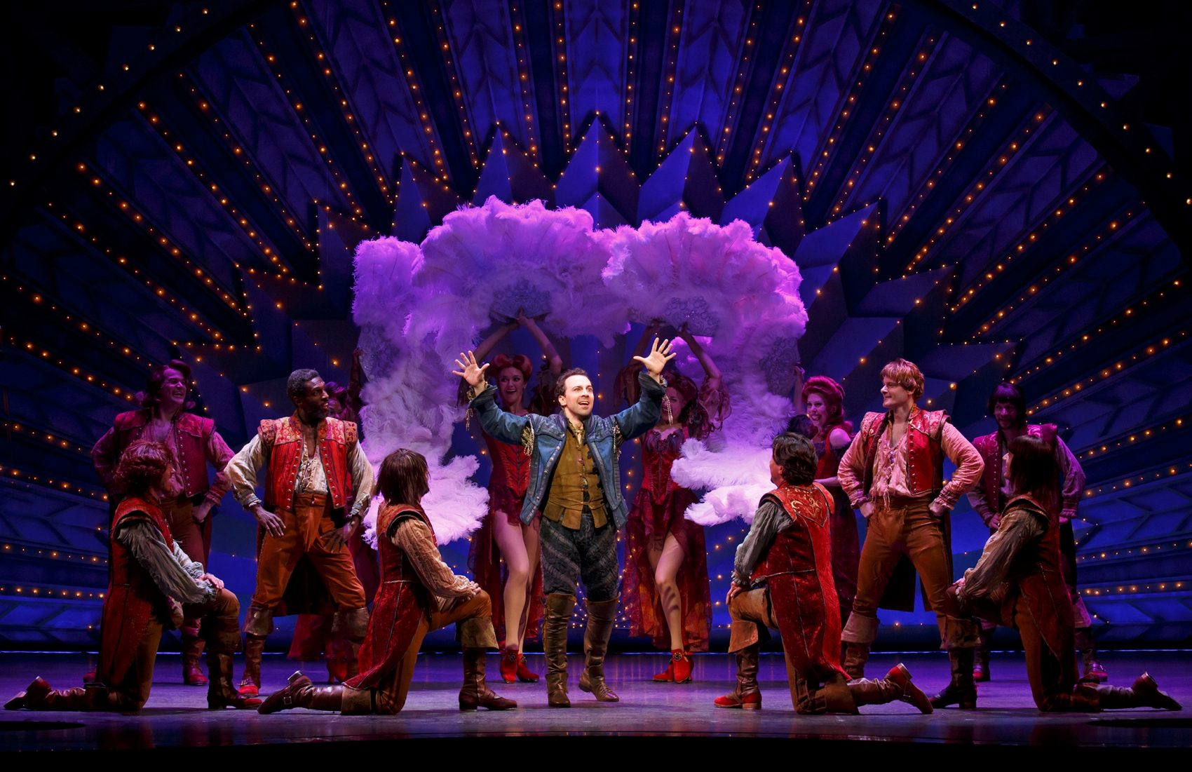 "The touring cast of ""Something Rotten!"" comes to Boston this month. (Courtesy Joan Marcus/Broadway in Boston)"