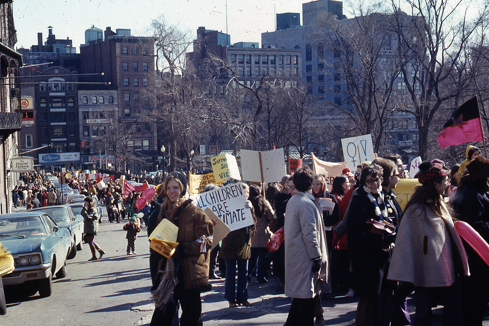 The Boston International Women's Day March on March 8, 1970. (Photo courtesy Liane Brandon)