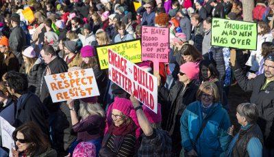 The crowd packs Boston Common. (Robin Lubbock/WBUR)