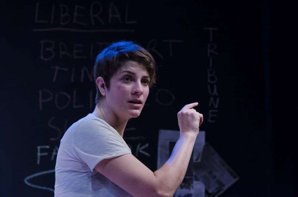 """Georgia Lyman in """"The Atheist."""" (Courtesy Kalman Zabarsky/Boston Playwrights' Theatre)"""