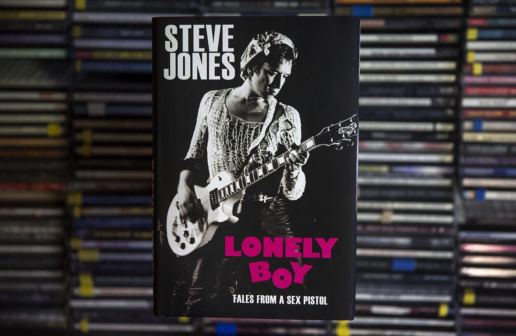 "Sex Pistols' Steve Jones recently released a new memoir, ""Lonely Boy."" (Robin Lubbock/WBUR)"