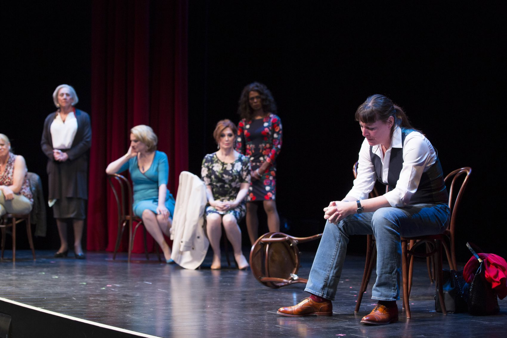 """The cast of """"Trans Scripts."""" (Courtesy Gretjen Helene Photography/American Repertory Theater)"""