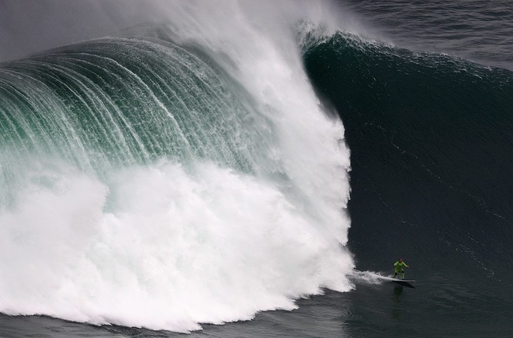 Garrett McNamara sought out the biggest waves in the world. (Francisco Leong/AFP/Getty Images)