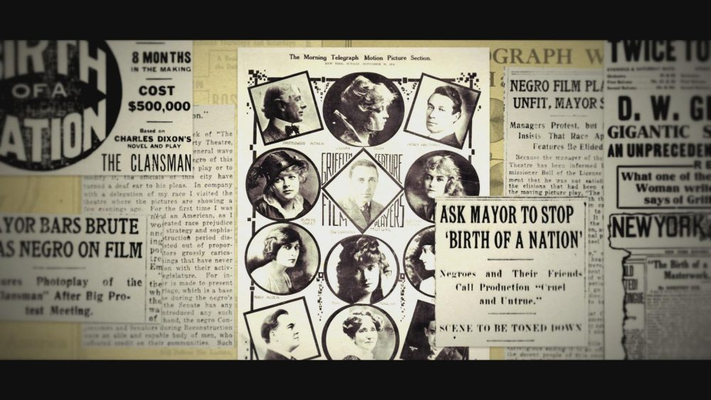 "News clippings from the time of ""Birth of a Nation's"" release. (Courtesy ""Birth of a Movement"")"