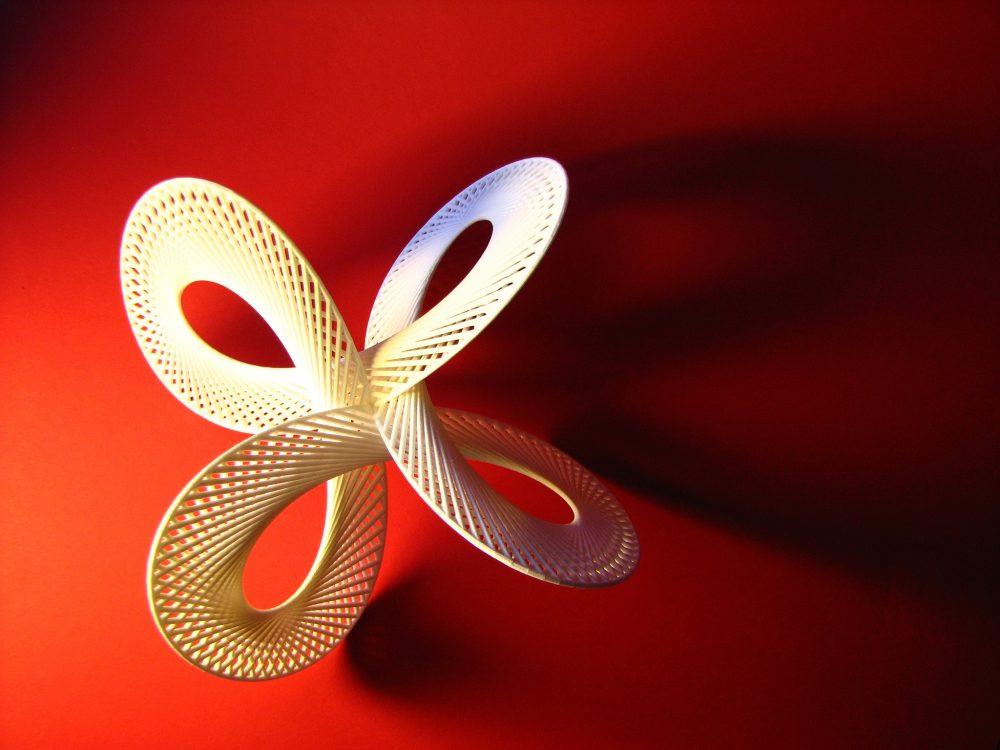 A 3D printed quadrifolium. (fdecomite/Flickr)