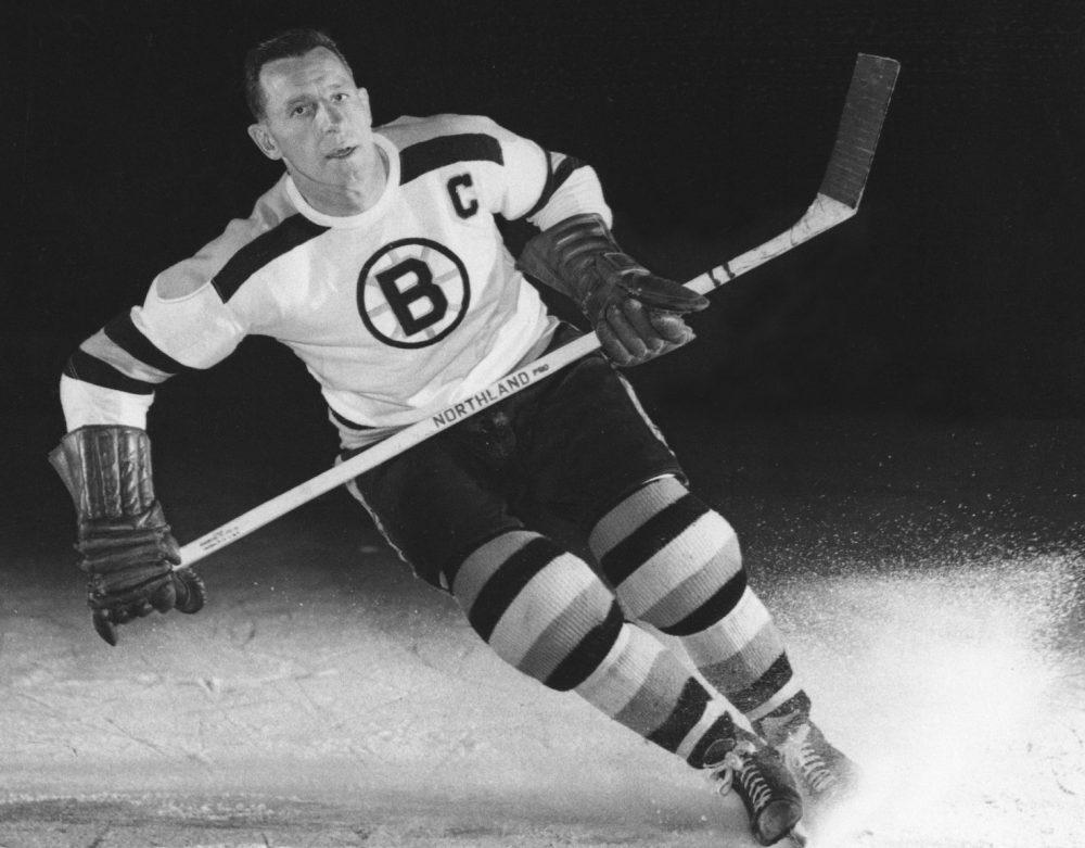Milt Schmidt photographed in September 1953 as captain of the Boston Bruins. (AP File Photo)