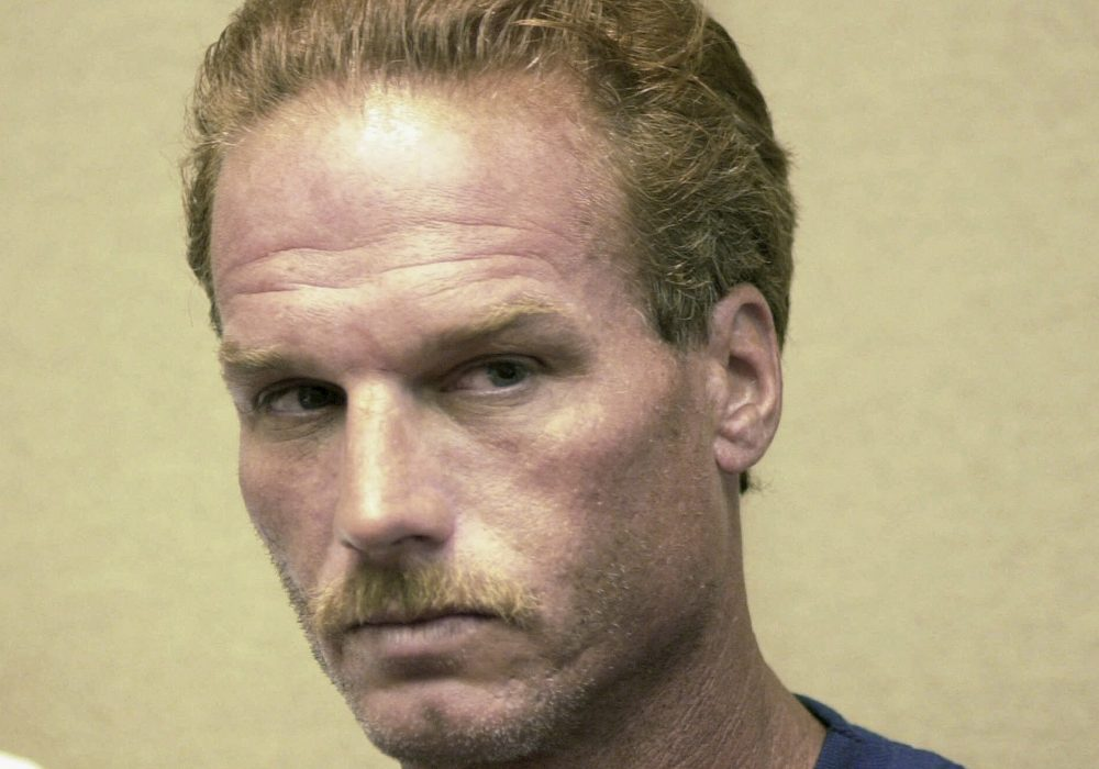 This 2001 file photo shows Gary Sampson during an arraignment in Brockton. (Greg Derr/The Patriot Ledger/AP)