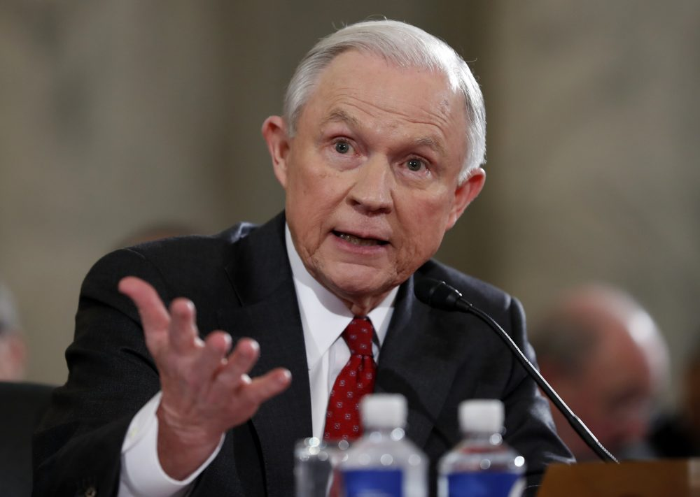 Attorney General-designate, Sen. Jeff Sessions, R-Ala., testifies on Capitol Hill Tuesday, Jan. 10, 2017, at his confirmation hearing before the Senate Judiciary Committee. The hearing concluded Wednesday. (Alex Brandon/AP)