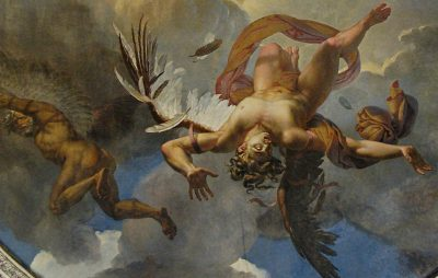 """The fall of Icarus"" ceiling fresco at the Louvre in Paris, painted by Merry-Joseph Blondel. (Marie-Lan Nguyen/Wikimedia Commons)"
