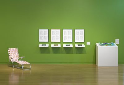 Carly Glovinski's art at the DeCordova Museum. (Courtesy of Carroll and Sons)
