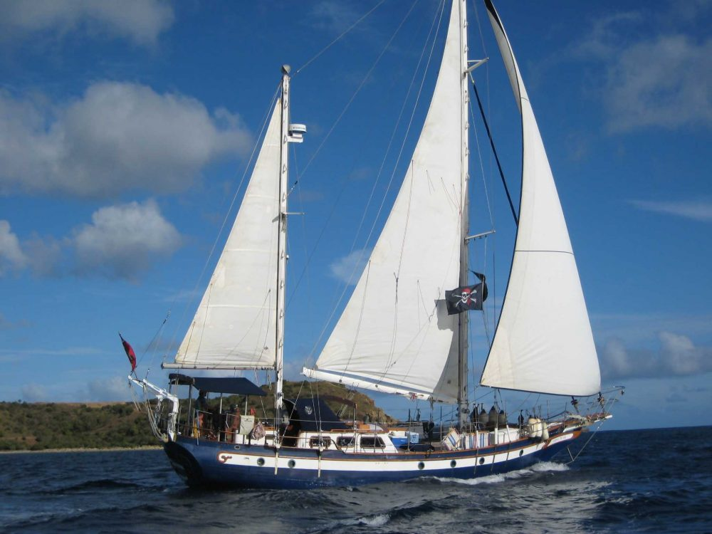 Coy Theobalt's sailboat, Gypsy Wind. (Courtesy Coy Theobalt)