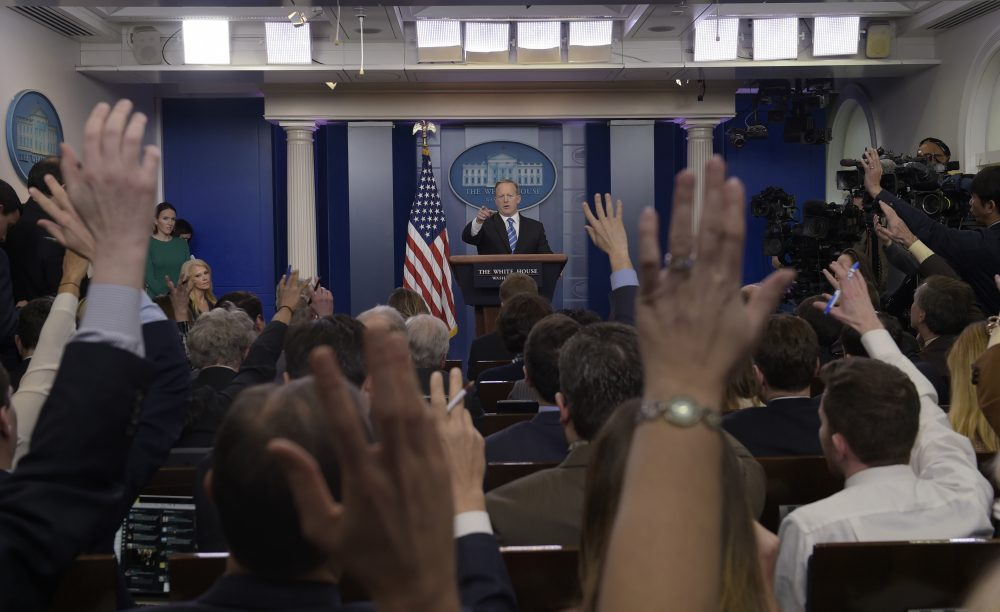 A non-traditional candidate who did not play by the rules can be expected to behave similarly once in office, writes Lauren Stiller Rikleen. That means the media needs a new rulebook. Pictured: White House press secretary Sean Spicer calls on a reporter during the daily briefing at the White House in Washington, Tuesday, Jan. 24, 2017. (Susan Walsh/AP)