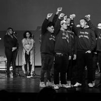 Since Donald Trump's election, writes Adam Stumacher, students at his school are fearful and have faced more incidents of hate. But they are learning how to transform emotion into civic engagement. Strong Men Strong Leaders performed at the Strand Theater in Dorchester the night before Trump's inauguration. (Joni Lohr/Courtesy)