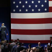 John Vercher asks: Does going high mean we must continue to turn the other cheek, look the other way while progress is undone?Pictured: President Barack Obama and First Lady Michelle Obama leave the stage after President Obama gives his presidential farewell address at McCormick Place in Chicago, Tuesday, Jan. 10, 2017. (Charles Rex Arbogast/AP)