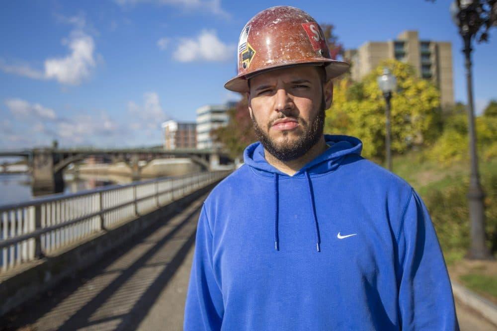 """Absolute was cheating me,"" said Jean Jimenez, 27, of Methuen. (Jesse Costa/WBUR)"