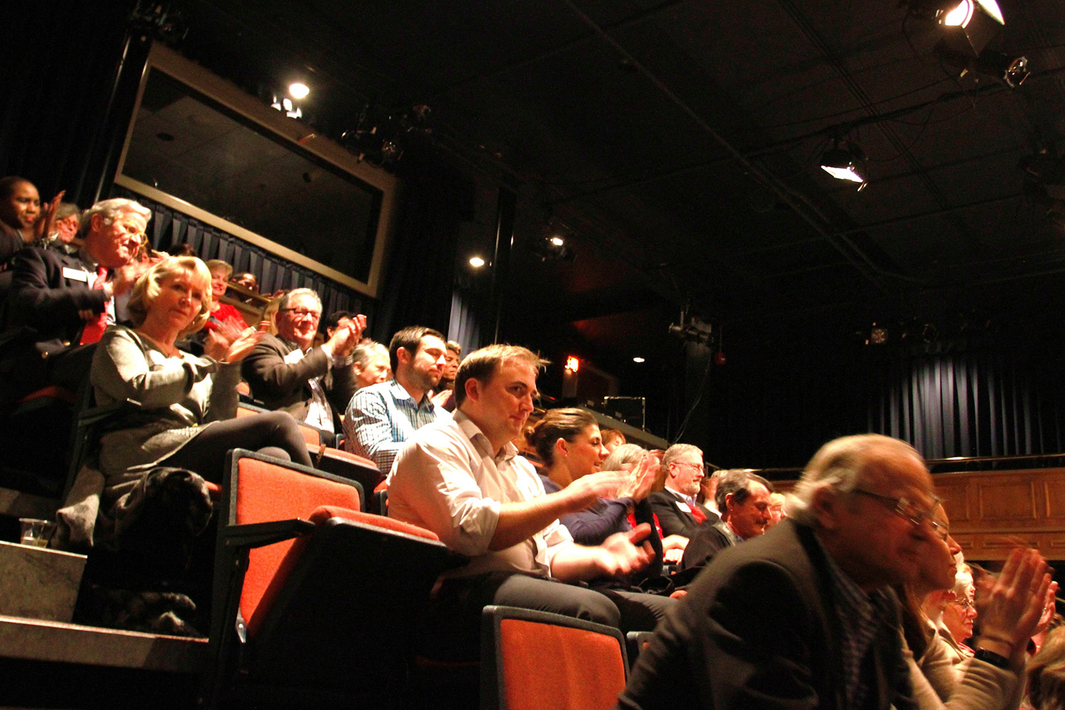A view of the audience at a live taping of WFAE's Charlotte Talks in Charlotte, NC. (Jenifer Roser/WFAE)