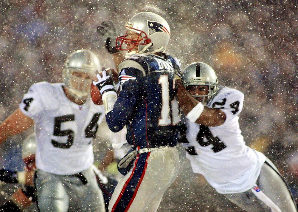 The tuck rule saved the Patriots from defeat in the 2002 divisional playoffs and has been debated ever since. (Matt Campbell/Getty Images)