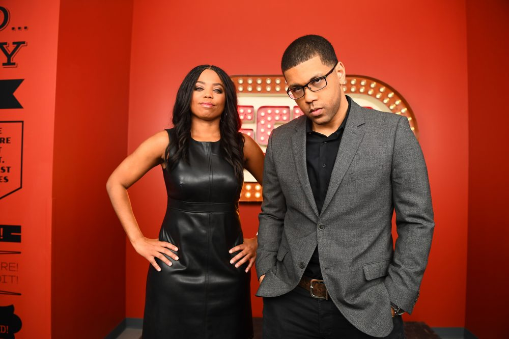 "Michael Smith and Jemele Hill, the new hosts of ESPN's ""SC6."" (Courtesy Joe Faraoni/ESPN Images)"