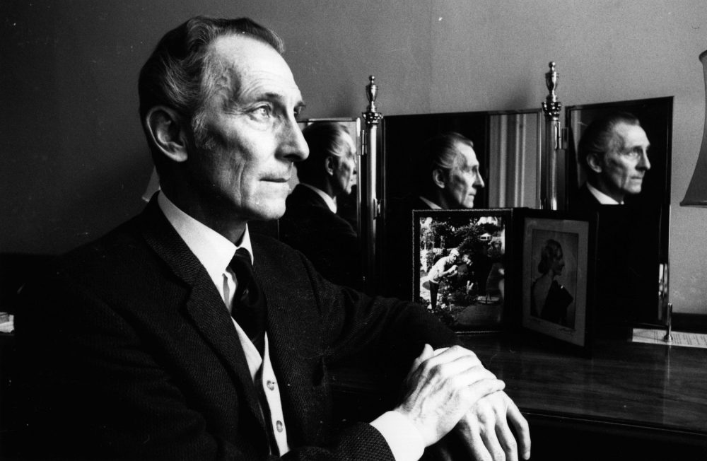 "English actor Peter Cushing in 1972. A digital re-creation of Cushing, and his original ""Star Wars"" character Grand Moff Tarkin, is featured in the new film ""Rogue One: A Star Wars Story."" (Evening Standard/Getty Images)"