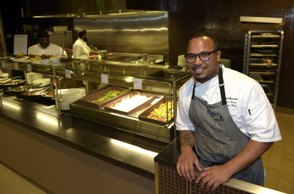 In this Sept. 14, 2016 file photo, chef Jerome Grant poses for a photo at the National Museum of African American History and Culture in Washington. (Susan Walsh, File/AP)
