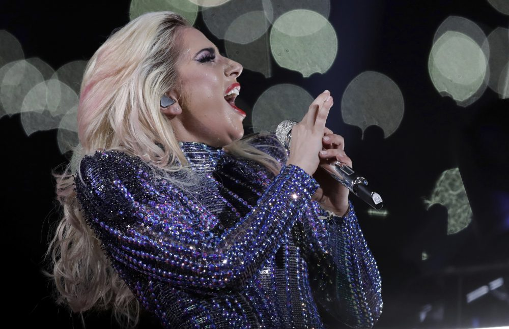 Singer Lady Gaga performs during the halftime show of Super Bowl 51 on Sunday, Feb. 5, 2017, in Houston. (Darron Cummings/AP)