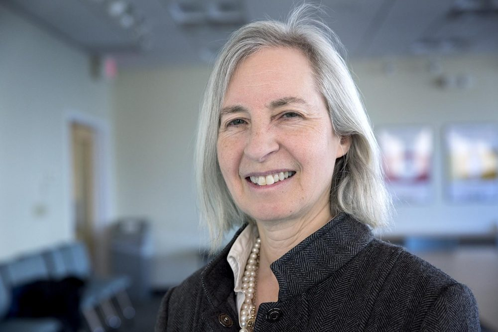 Harvard Law School Dean Martha Minow. (Robin Lubbock/WBUR)