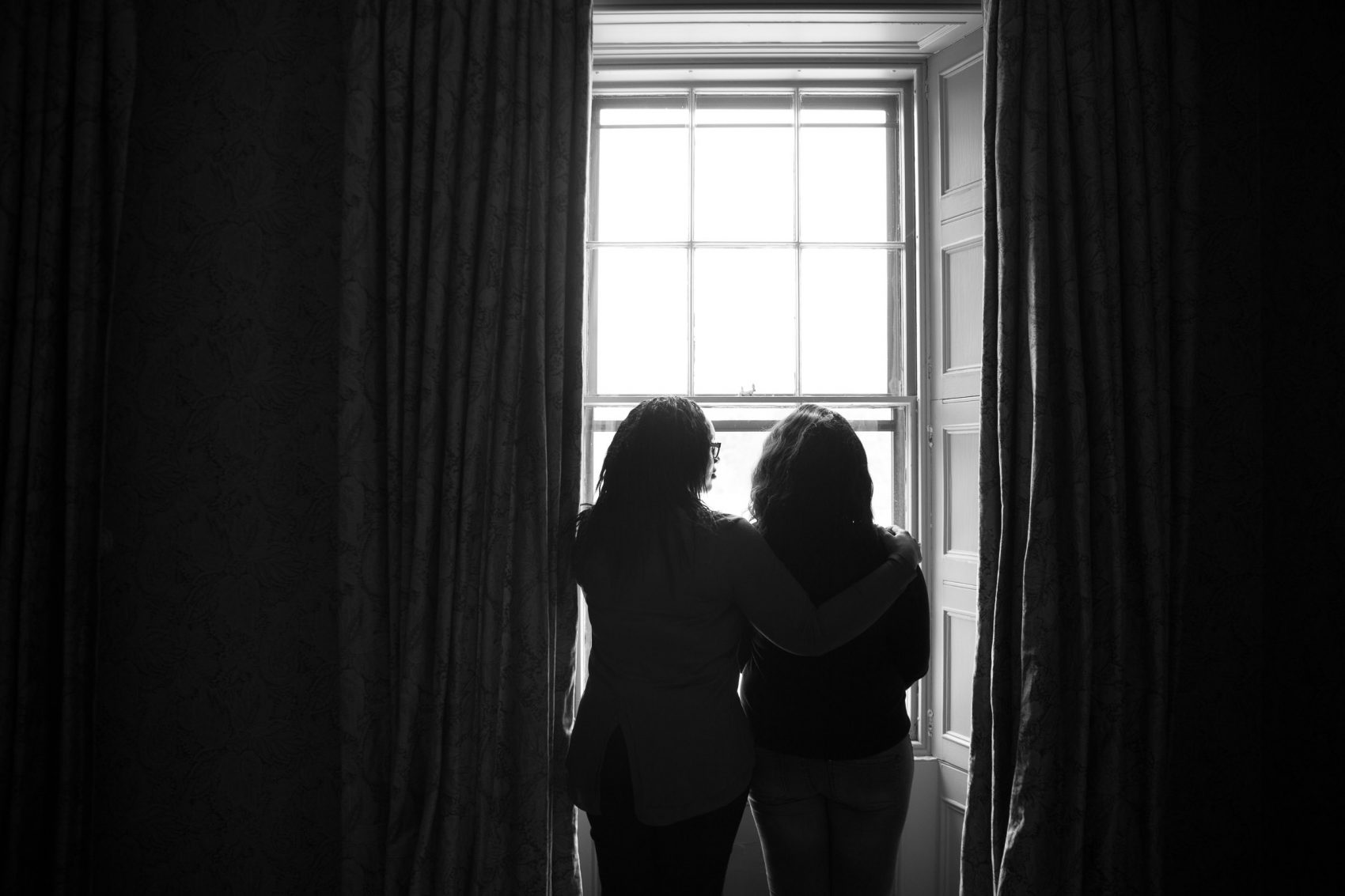 """Jane Doe 3 and her mother in Boston during the filming of """"I Am Jane Doe."""" (Courtesy R. Schultz/50 Eggs)"""