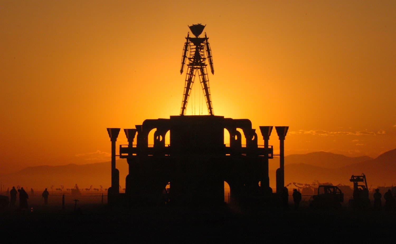 The giant Man statue at Burning Man in 2006. (Ron Lewis/AP)