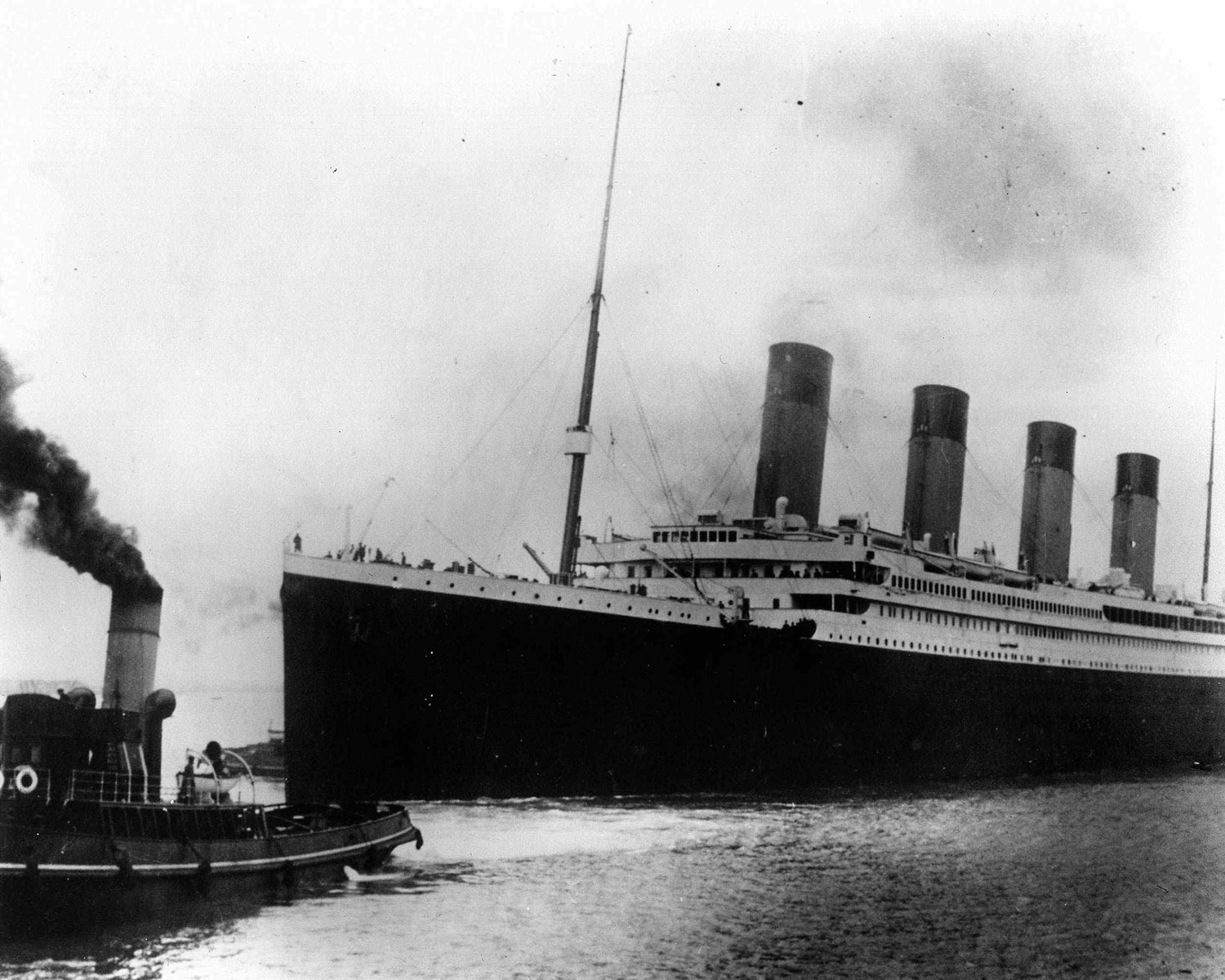 The British liner Titanic sails out of Southampton, England, at the start of its doomed voyage on April 10, 1912. (AP Photo)